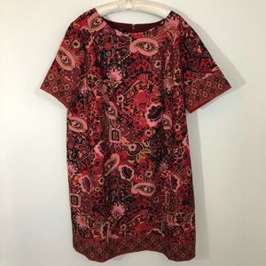 [Talbots] Shift Paisley Floral Dress 24 w Plus